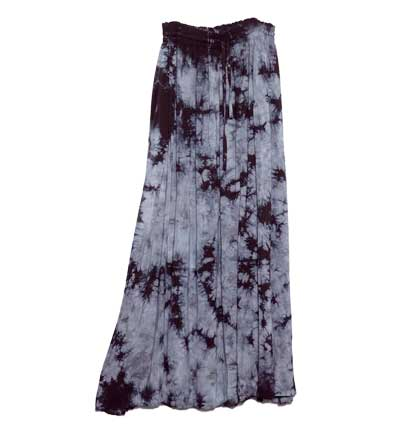 Long Rayon Skirt with Pockets